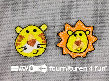 Applicatie set leeuw en tijger