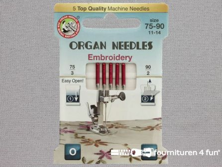 Organ Needles naaimachine naalden - Borduren 75-90