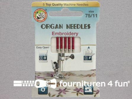 Organ Needles naaimachine naalden - Borduren 75