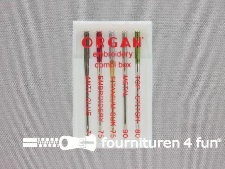Organ Needles naaimachine naalden - Borduren Combi Box