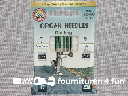 Organ Needles naaimachine naalden - Quilting 75-90