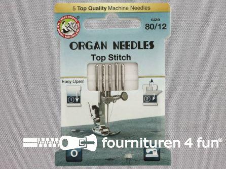 Organ Needles naaimachine naalden - Top stitch 80