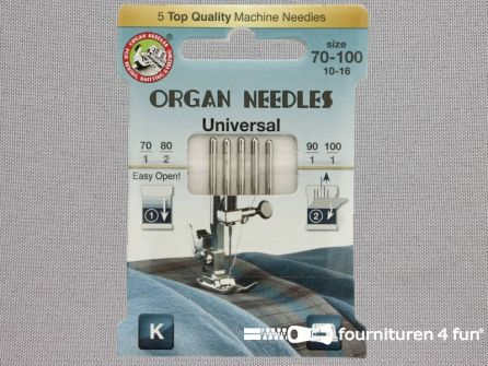 Organ Needles naaimachine naalden - Universeel 70-80-90-100