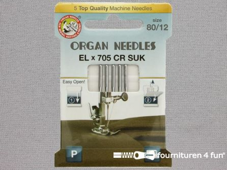 Organ Needles overlock machine naalden - ELx705 chroom SUK 80