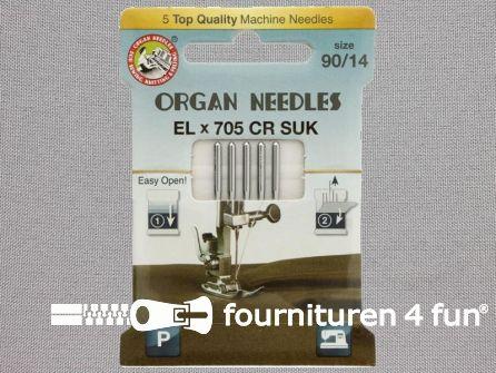 Organ Needles overlock machine naalden - ELx705 chroom SUK 90