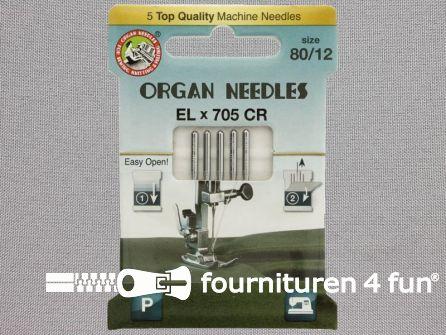 Organ Needles overlock machine naalden - ELx705 chroom 80