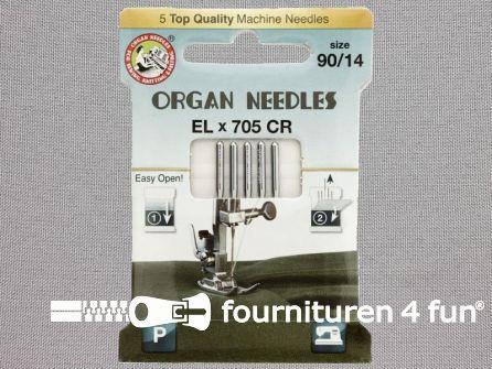 Organ Needles overlock machine naalden - ELx705 chroom 90