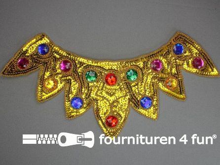 Pailletten applicatie 370x180mm inzetstuk multicolor goud