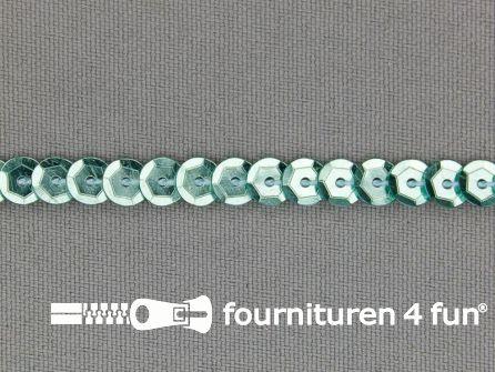 Pailletten band 6mm glitter mint groen