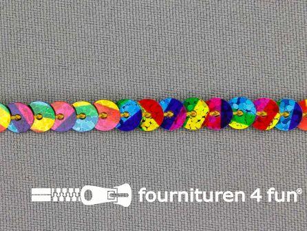Pailletten band 6mm multicolor