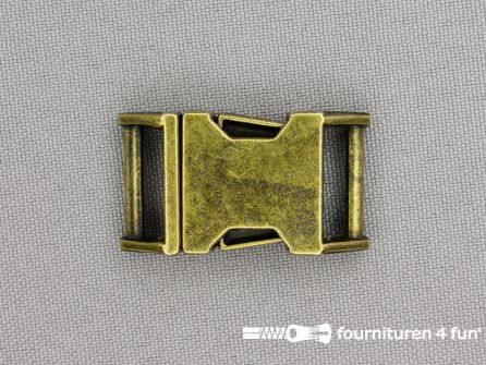 Parachute gesp 15mm brons