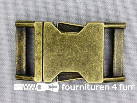 Parachute gesp 25mm brons