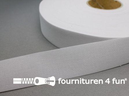 Opstrijkbare rok- en broekenband 30mm wit 100 meter