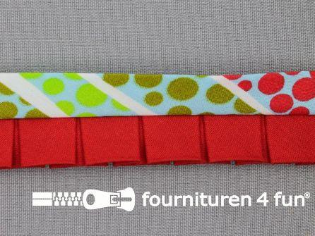 Retro plissé biasband 30mm multicolor - rood