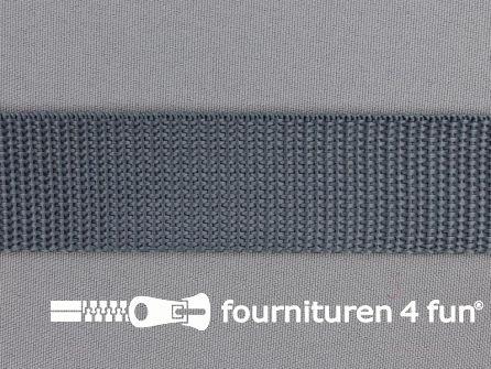 Rol 50 meter PP (polypropyleen) band 30mm midden grijs