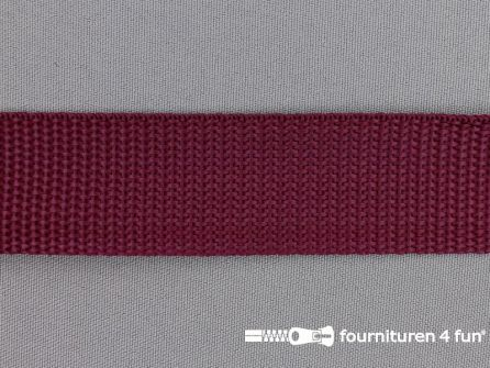 Rol 50 meter PP (polypropyleen) band 30mm bordeaux rood