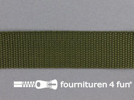 Rol 50 meter PP (polypropyleen) band 30mm leger groen