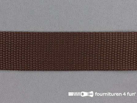 Rol 50 meter PP (polypropyleen) band 30mm bruin