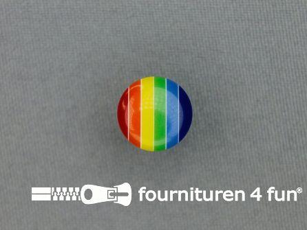 Kinderknoop regenboog 13mm multicolor
