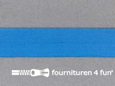 Rol 50 meter rekbare vouwtres 20mm aqua blauw