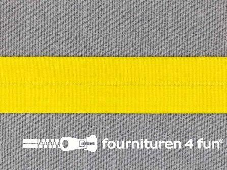 Rol 50 meter rekbare vouwtres 20mm geel