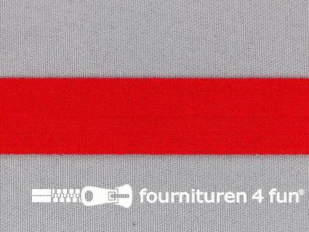 Rol 50 meter rekbare vouwtres 20mm rood