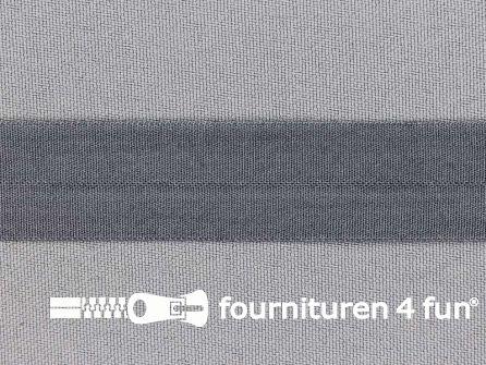 Rekbare vouwtres 20mm grijs