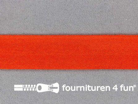 Rekbare vouwtres 20mm oranje