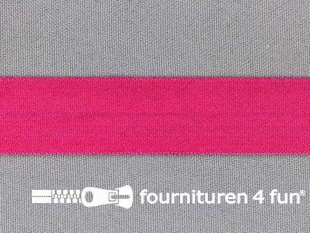 Rekbare vouwtres 20mm fuchsia roze