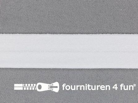 Rol 50 meter rekbare vouwtres 20mm wit