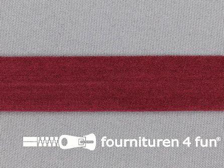 Rol 50 meter rekbare vouwtres 20mm bordeaux rood