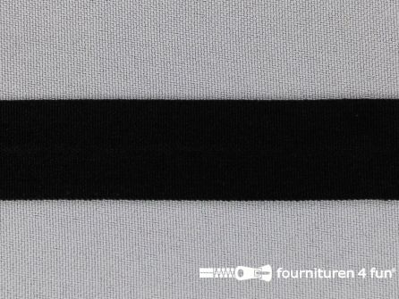 Rekbare vouwtres 20mm zwart