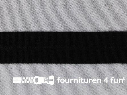 Rol 50 meter rekbare vouwtres 20mm zwart
