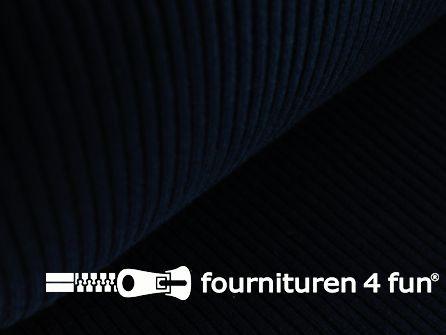 Rib boordstof 25cm marine blauw