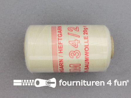 Rijggaren 20 gram ecru - 100% katoen