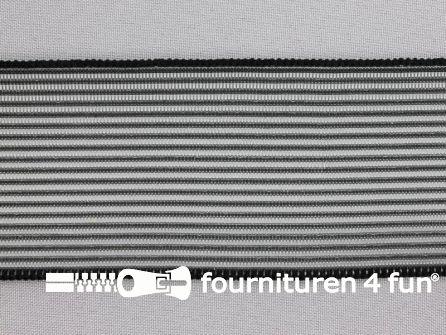 Rimpel elastiek 60mm zwart
