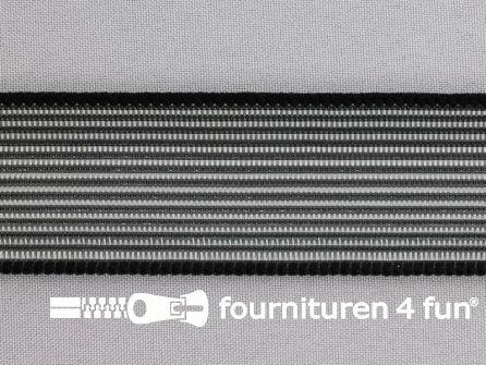 Rimpel elastiek 40mm zwart