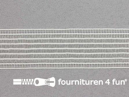Rimpel elastiek - gaas elastiek - 30mm wit