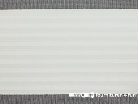 Rimpel elastiek - pyjama elastiek - 77mm wit