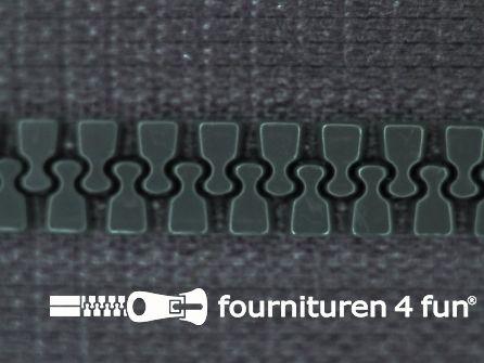 Deelbare bloktand rits 6mm met 2 schuivers donker staalgrijs