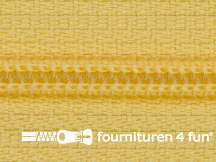 Niet deelbare nylon rits 3mm licht zonnebloem geel