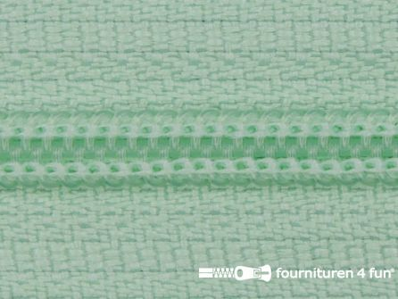 Niet deelbare nylon rits 3mm mint groen