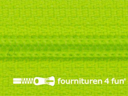 Niet deelbare nylon rits 3mm neon geel