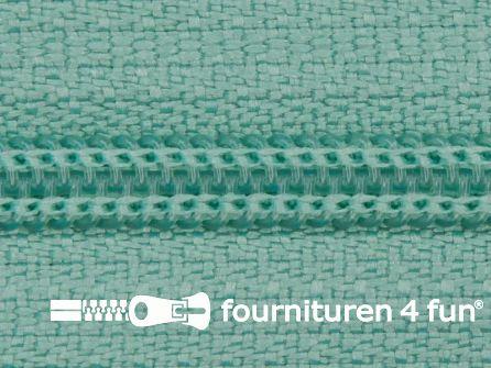 Niet deelbare nylon rits 3mm mint