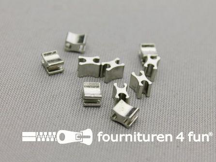Ritsstopper voor metalen rits - 6mm - 10 stuks