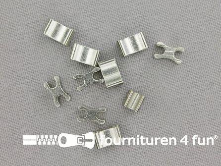 Ritsstopper voor metalen rits - 8mm - 10 stuks