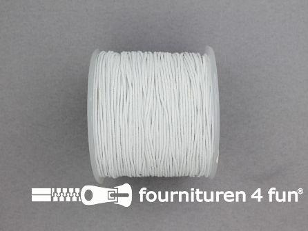 Rol 100 meter elastisch koord 0.8mm wit