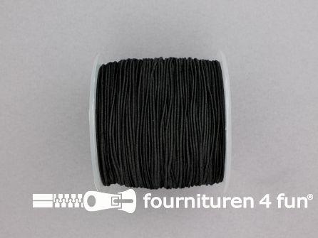 Rol 100 meter elastisch koord 0.8mm zwart