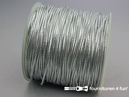 Rol 100 meter elastisch koord 1,5mm zilver