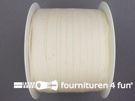 Rol 100 meter katoenen keperband 14mm ecru